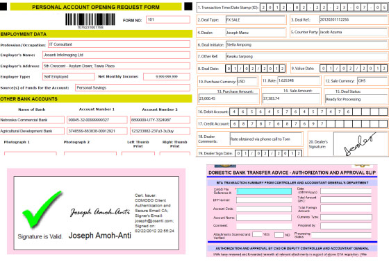 Electronic Form EForm Integrated With Images Photographs Wet